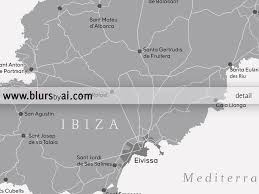 Large Printable Map Of Usa by Large Printable Map Of Ibiza Spain In Grayscale 36x24