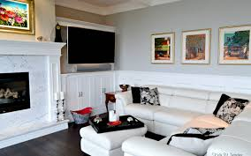 white fireplace built ins stovers