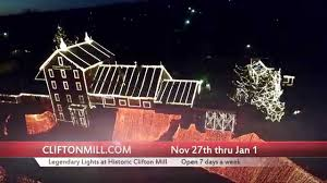 clifton ohio christmas lights legendary lights at clifton mill youtube