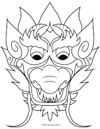 free blank masks coloring pages body art blank