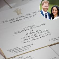 royal wedding invitation prince harry and meghan markle s wedding invitations sent and