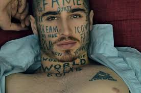 this male model has more face tattoos than you