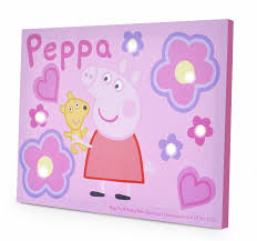 peppa pig led canvas wall 11 5 x 15 75 toys