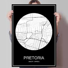 popular south africa sticker buy cheap south africa sticker lots black white city map of pretoria south africa print poster print on paper or canvas wall