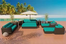 Turquoise Patio Furniture Wicker Sofa U0026 Dining Set Patio Furniture Set 7j