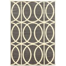 linon home decor rugs linon home decor claremont links grey and cream 5 ft x 7 ft