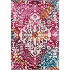 Purple And Turquoise Area Rug Watercolor Purple 5 X 8 Area Rugs Rugs The Home Depot