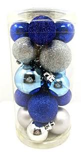 blue and silver christmas ornaments amazon com