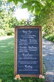 Chalkboard Wedding Program Mirrors Chalkboards And Wood Signs Just Write Studios