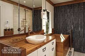 bathroom countertop ideas wood countertops bathroom with teak vanity top for a in washington