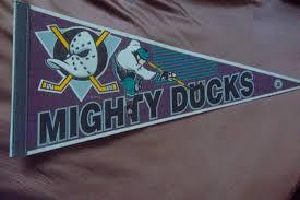 Mighty Ducks Flag Nhl Pennants Flags Adanac Antiques U0026 Collectibles
