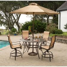 High Patio Dining Set - manor 5 piece high dining bar set with 56 in cast top table 9 ft