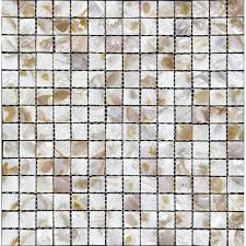 Shell Tiles For Kitchen Backsplash  Mother Of Pearl Tile - Seashell backsplash