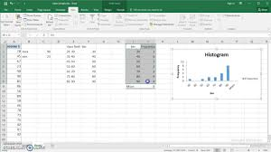 how to create a table in excel 2016 use excel 2016 to make frequency distribution and histogram for