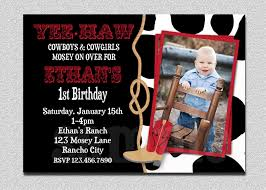 Editable 1st Birthday Invitation Card Cowboy Birthday Invitation Cowboy 1st Birthday Party