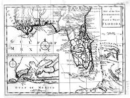 The Thirteen Colonies Map Florida Colony