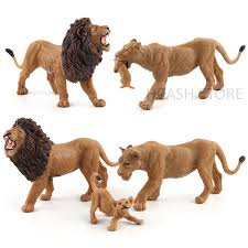 lion figurine simulation lion animal models plastic lioness animal