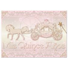 quinceanera invitations photo quinceañera invite blush pink gold princess carriage with