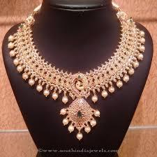gold diamond emerald necklace images Uncut diamond and emerald necklace uncut diamond emerald jpg