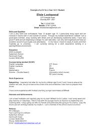 some exle of resume resume how to write the exle cv exles students uk