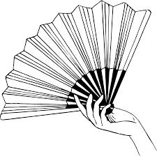 held paper fans fans clipart