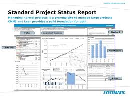software development status report template manage complex projects to success using cmmi lean and scrum