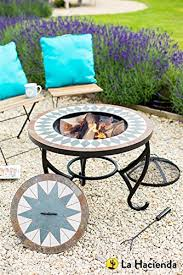 Firepits Co Uk La Hacienda Tiled Firepit Table With Grill Centre Lid L Https