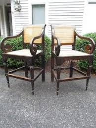 rare pair of antique 1800s french colonial plantation chairs