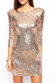 new years glitter dresses sequins scoop neck 3 4 sleeve dress sleeved dress scoop neck and