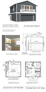 Garage Plans With Storage by Best 25 Garage With Apartment Ideas On Pinterest Above Garage