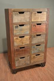 reclaimed pine filing cabinet bayshore countdown console with 10 drawers multi color dresser