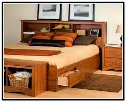 Black Bookcase Headboard Design Ideas Bookcase Storage Bed Modern Twin Queen Size With