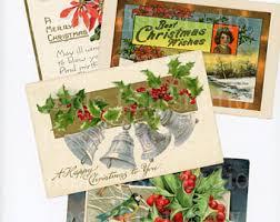 christmas postcards christmas postcard etsy