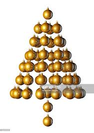 tree made of ornaments stock illustration