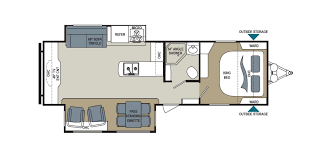 mallard travel trailer floor plans kodiak express 264rlsl floorplan image trailers pinterest