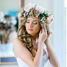wedding hair flowers wedding hair with flowers popsugar beauty
