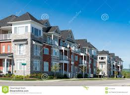 attractive apartment buildings stock photo image 41134370