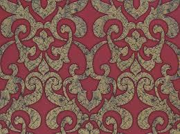 wandfarbe rot mit gold satintapete barock klassik hermitage rot