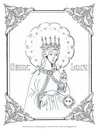 life love u0026 sacred art free st lucy coloring page