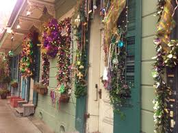 mardis gras decorations all dolled up in purple green and gold mardi gras decor in new