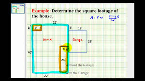How To Make Blueprints For A House Ex Find The Square Footage Of A House Youtube