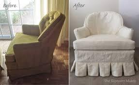 Linen Chair Slipcover Custom Hemp Slipcovers Update Old Chairs The Slipcover Maker