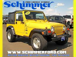 yellow jeep wrangler in illinois for sale used cars on