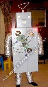 Robot Halloween Costume Cute Diy Cardboard Box Robot Halloween Costume Robot Costumes