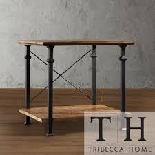 rustic end tables cheap amazon com tribecca home myra vintage industrial modern rustic end