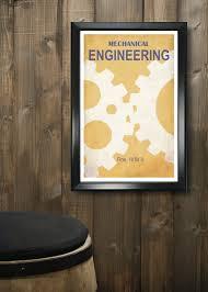 Mechanical Decor Mechanical Engineering 11x17 Minimalism Poster Print