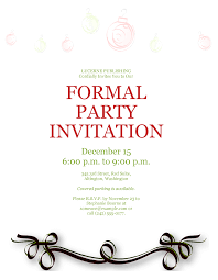 formal invitations formal party invitation template