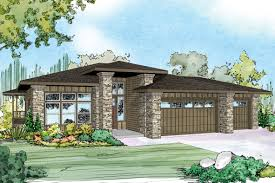 new prairie style house plan hood river 30 947 sloping lot