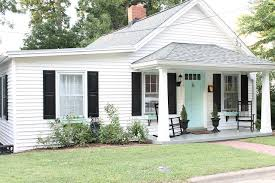 Front Door Colors For White House House After Blue Door And Black Shutters House Ideas