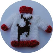 red mini christmas jumper sweater tree decoration by
